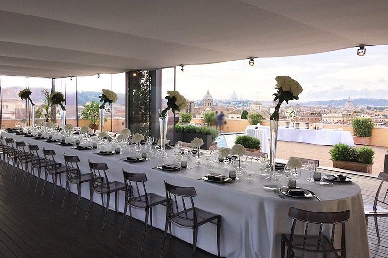 Bar Banqueting Terrazza Caffarelli La Luxury Location